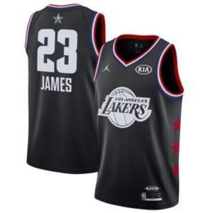 Los Angeles Lakers LeBron James Black All Jersey